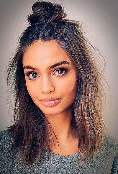 Trendige Frisuren für mittellanges Haar - Frisuren 2019 - Silvana Blog