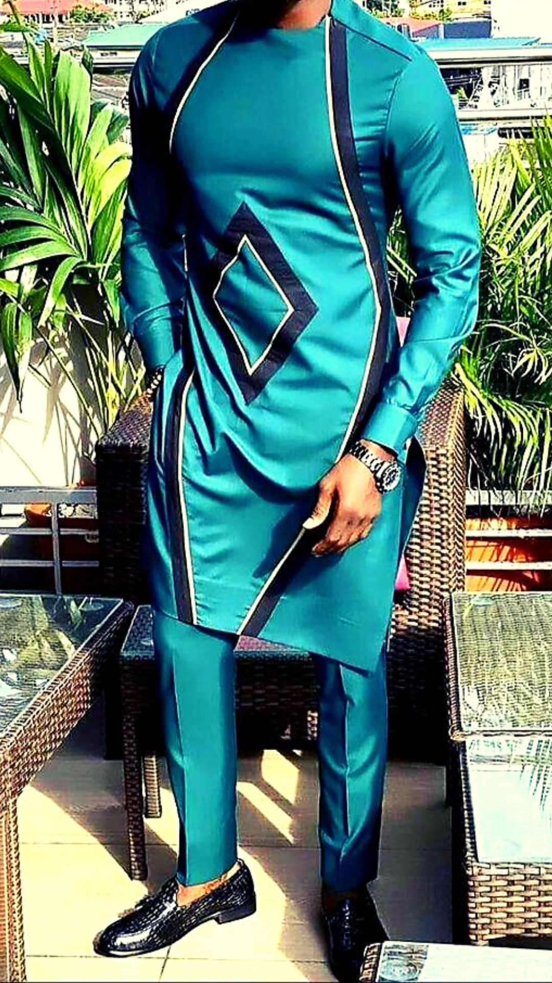 African suit for men dashiki clothing for men teal
