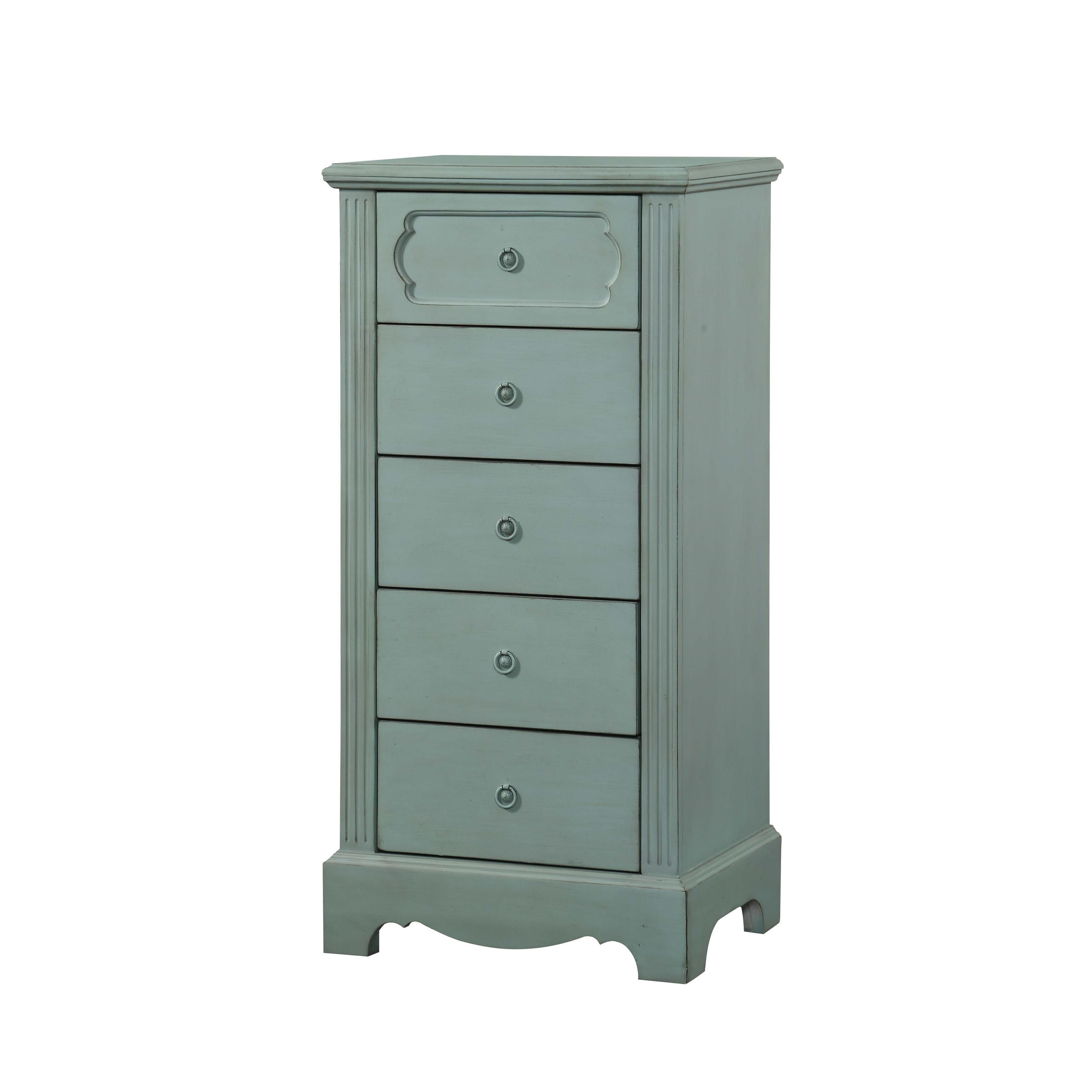 Acme Furniture Morre Antique Teal Pine MDF Chest Chest Antique