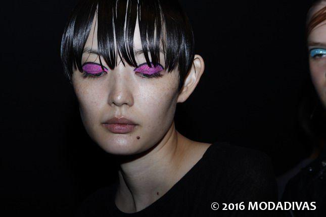 Piccione.Piccione #beauty #makeup #backstage #MFW #SS17