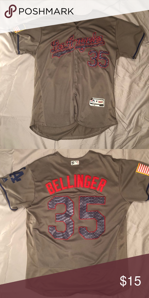 check out 4c010 ffd10 Los Angeles Dodgers Jersey This is a Bellinger Jersey. Used ...