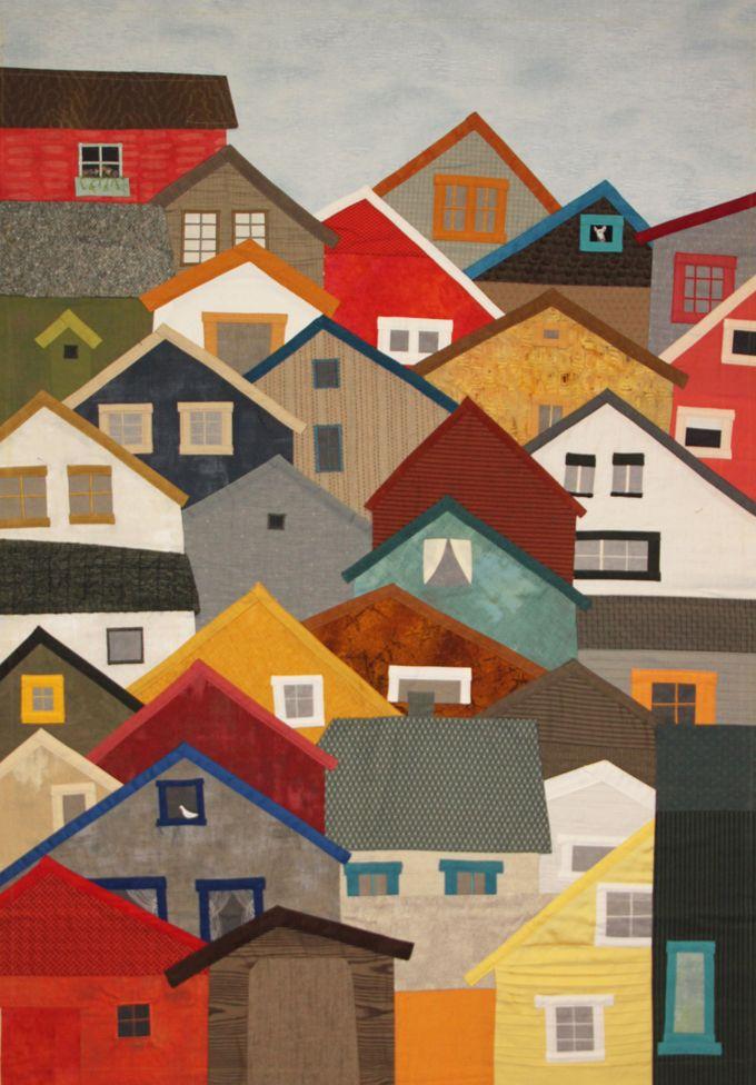 Hillside | Houses, Buildings, Villages Quilt Inspiration ... : quilt house patterns - Adamdwight.com