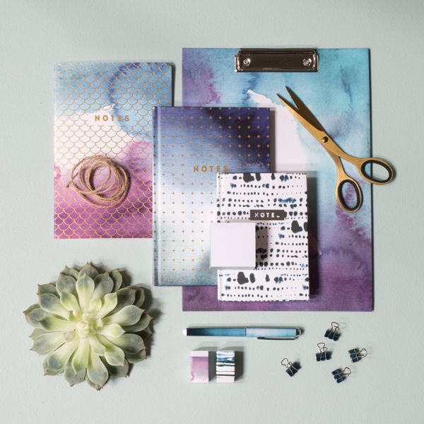 The Sisters Office Supplies With Watercolour Designs For Creative Ones Price Per Item From DKK 166 EUR 023 ISK 39 NOK 280 GBP 022