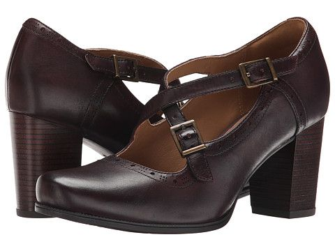 Clarks Ciera Sea Burgundy Leather, Shoes, Women