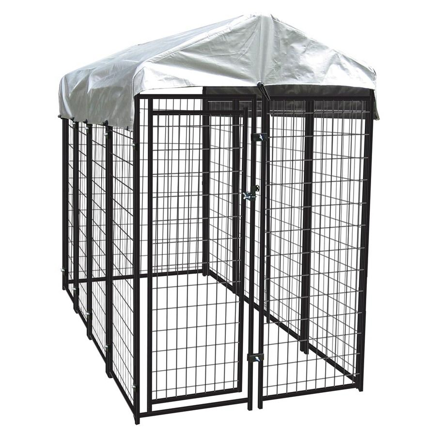 Shop 8 Ft X 4 Ft X 6 Ft Outdoor Dog Kennel Box Kit At Lowes Com