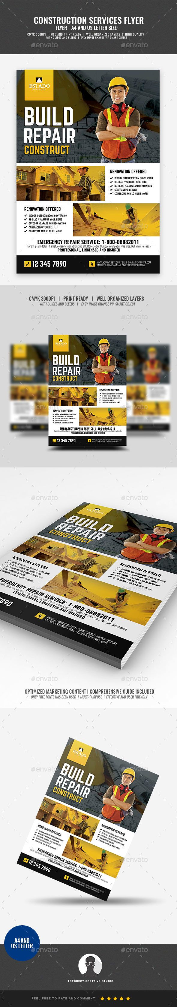Construction And Building Company Flyer Corporate Flyers Flyer