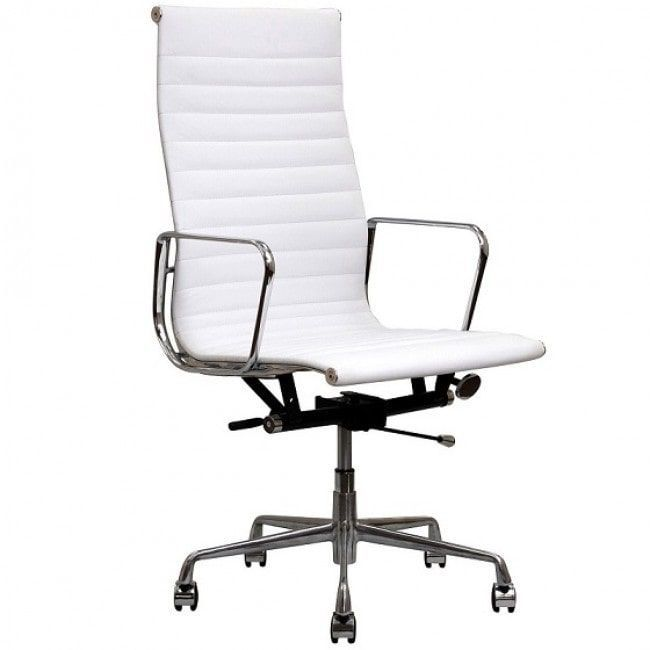 contemporary eames style executive top grain leather designer office