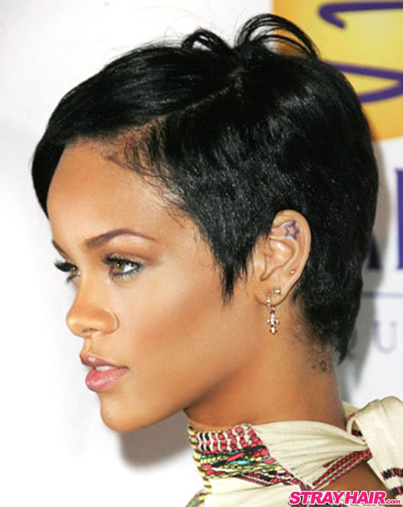 Short rihanna hair cut images