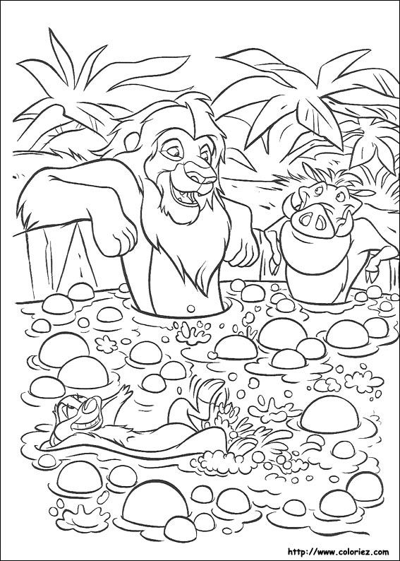 Coloriage Roi Lion Coloring Pages Lion King Spring Coloring