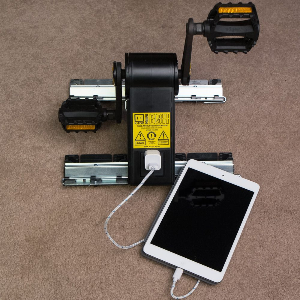 Pedal The K Tor Power Box Generator As You Would A Bicycle For 20 Watts Of Output To Charge Phones Tablets Power Generator Phone Charging Emergency Essentials
