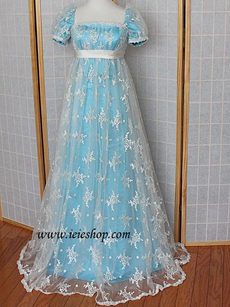 Regency style princess formal prom evening ball gown fashion
