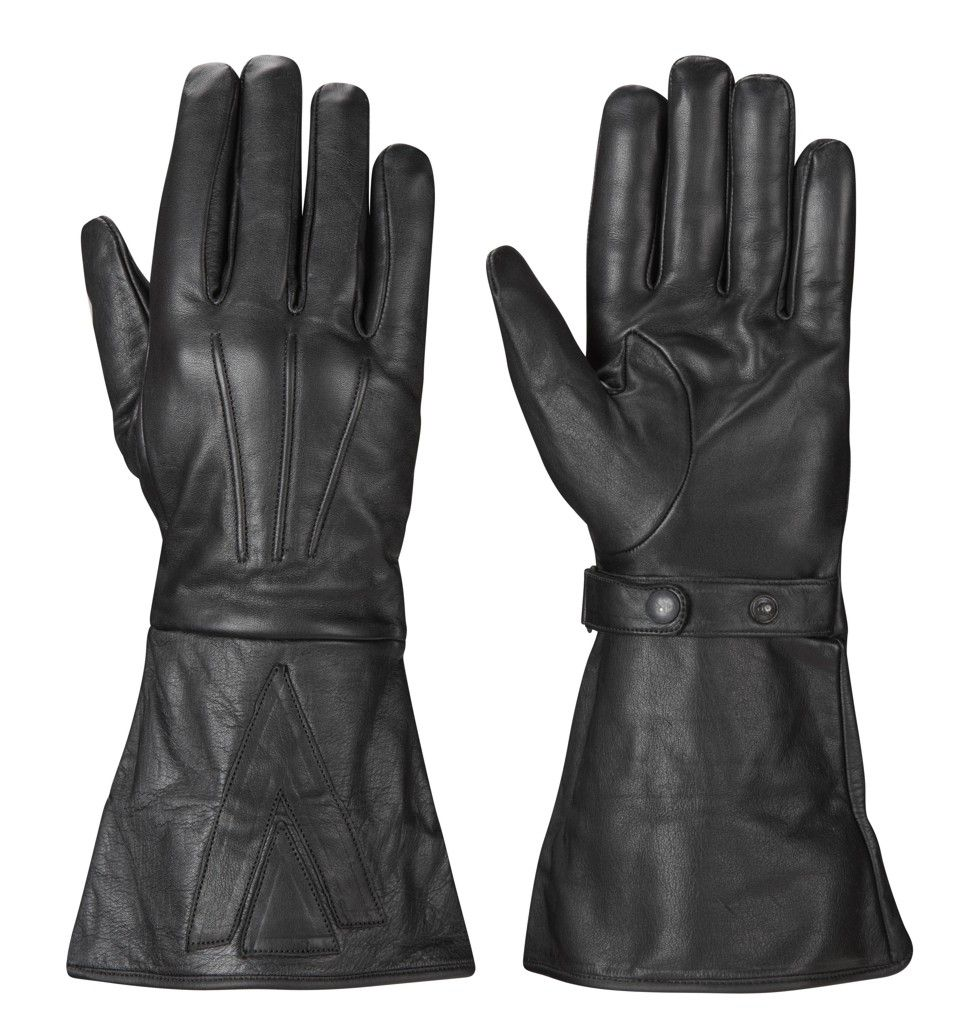 Triumph motorcycle leather gloves - Black Leather Classic Motorcycle Gauntlets Gloves In Vehicle Parts Accessories Clothing Helmets Protection Motorcycle Clothing
