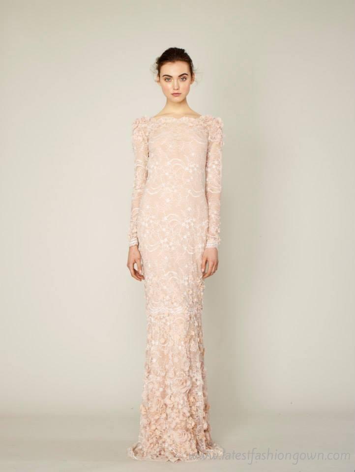 Long Sleeve Lace Dinner Dress