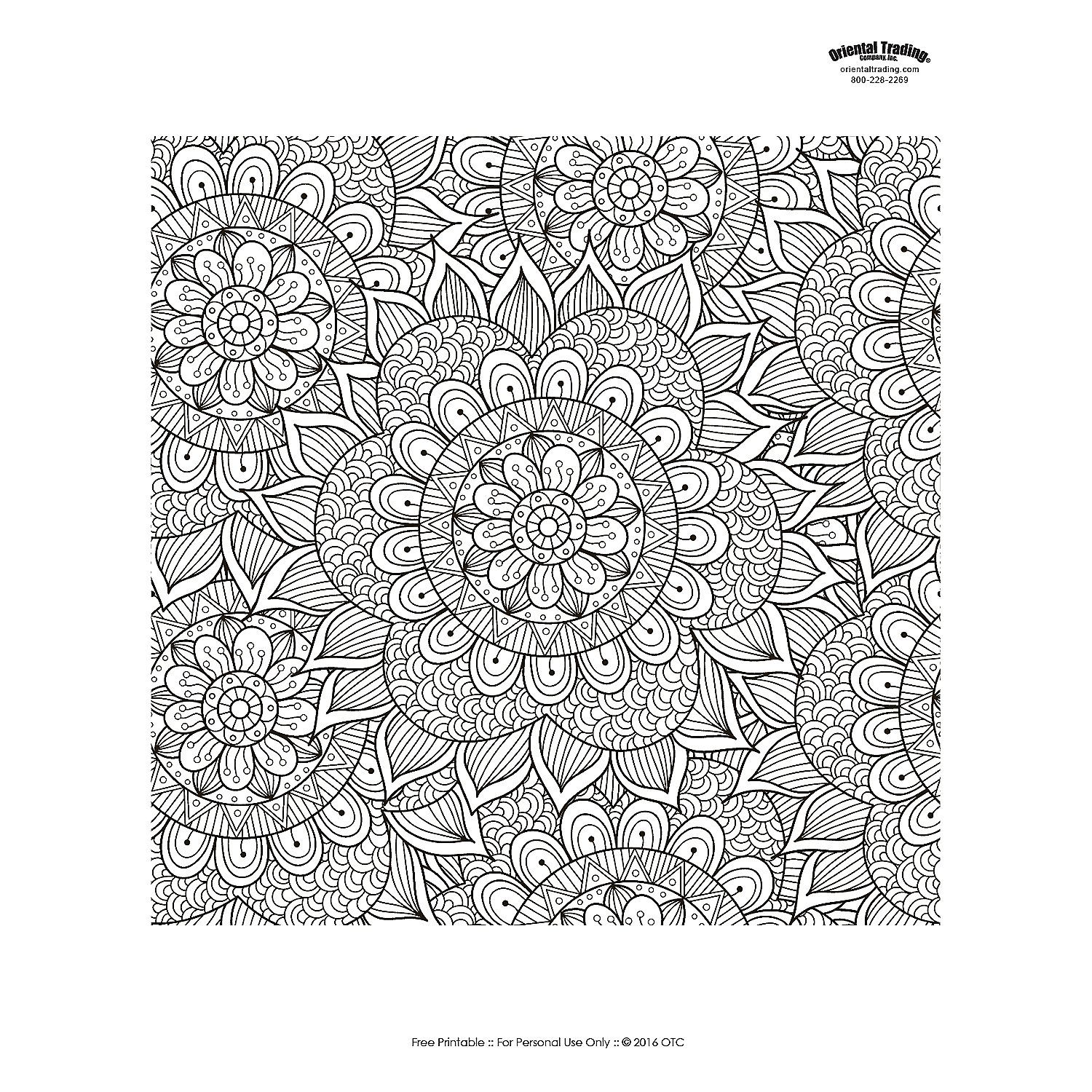 Floral+Mandala+Adult+Coloring+Page+Free+Printable+-+OrientalTrading ...