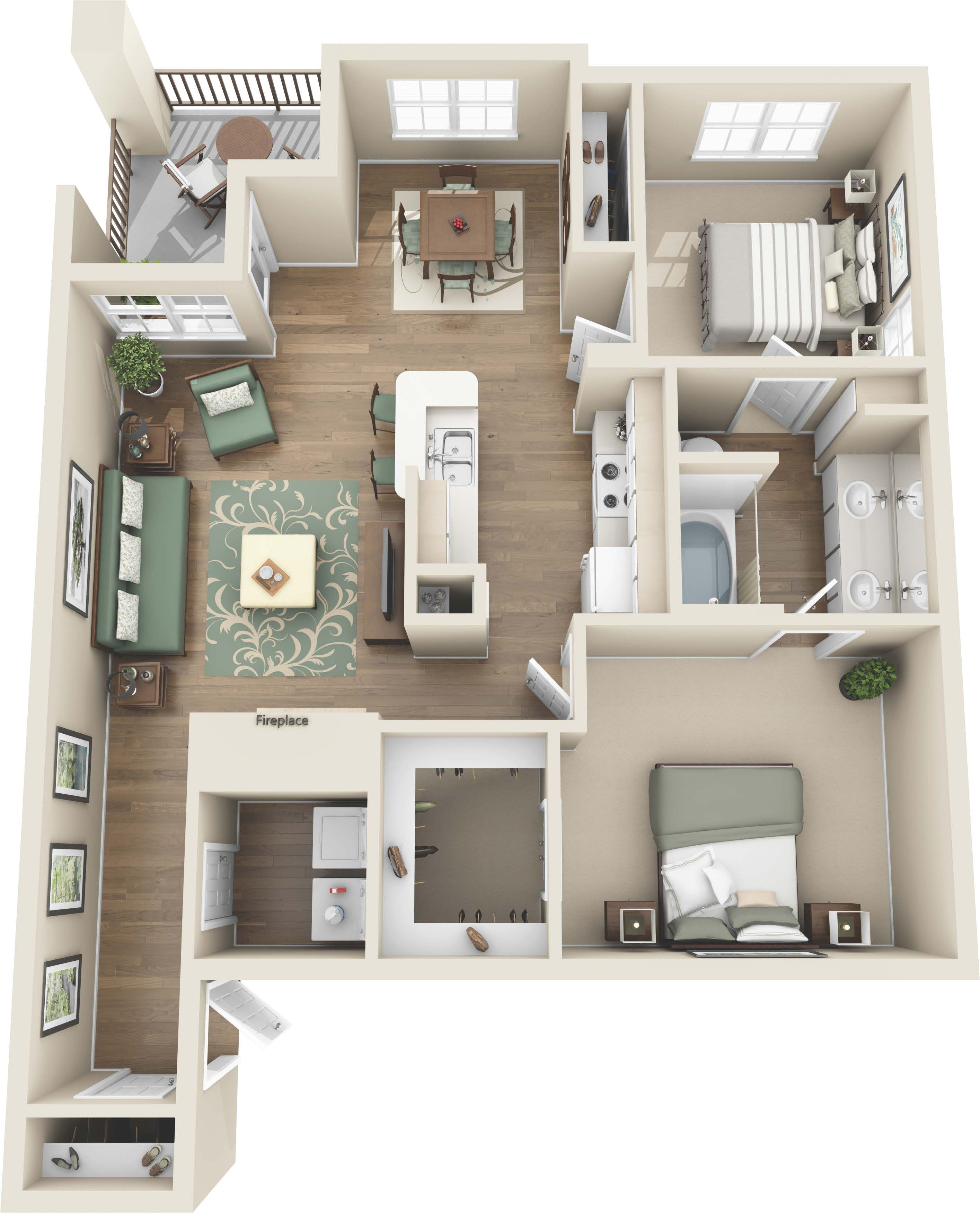 Luxury 1 And 2 Bedroom Colorado Springs Co Apartments Coloradosprings Colorado Apartment Stead Apartment Layout Apartment Floor Plans Luxury Apartments