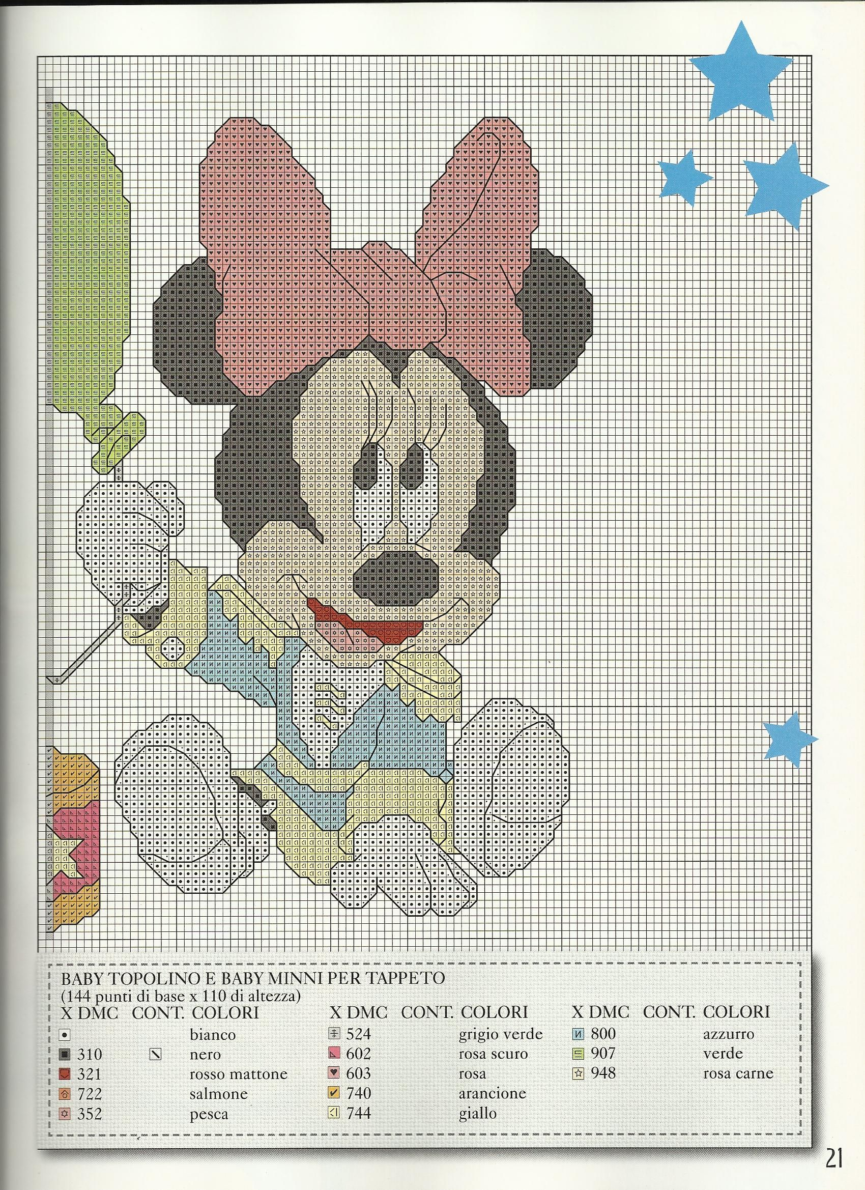 Baby Mickey Minnie 2 of 2 | Punto de cruz Disney | Pinterest | Punto ...