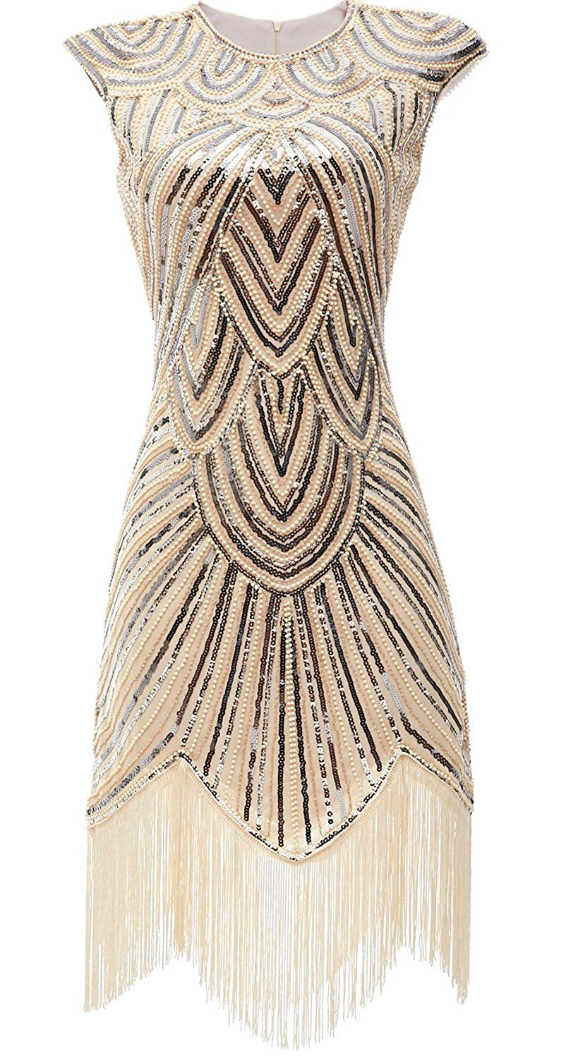 Eforpretty Womens 1920s Diamond Sequined Embellished Fringed Flapper Dress At Amazon Women S C Vintage Inspired Prom Dress Sparkly Prom Dresses Vintage Outfits [ 1500 x 802 Pixel ]