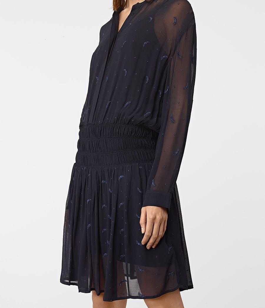 Women's Catalina Dress (Ink Blue) - product_image_alt_text_3