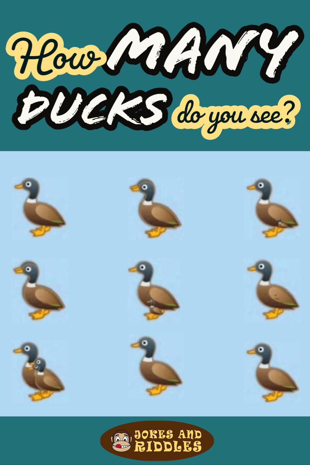 How many ducks do you see? Jokes and Riddles in 2020