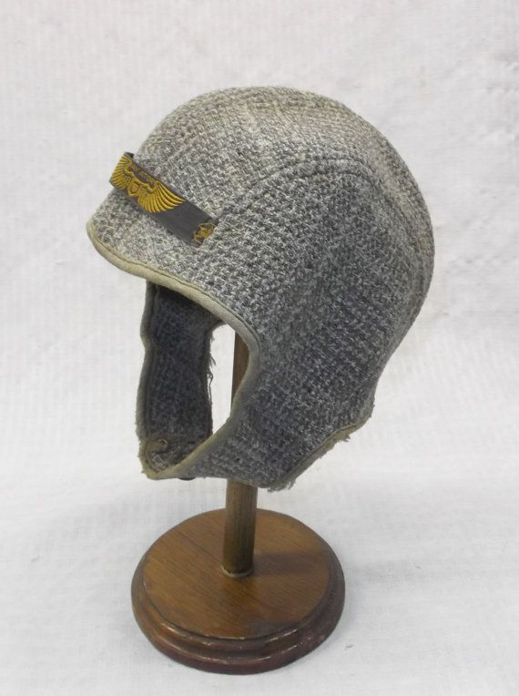 315a02f4437 1930s Vintage Child s Wool Aviator Hat or by MyVintageHatShop