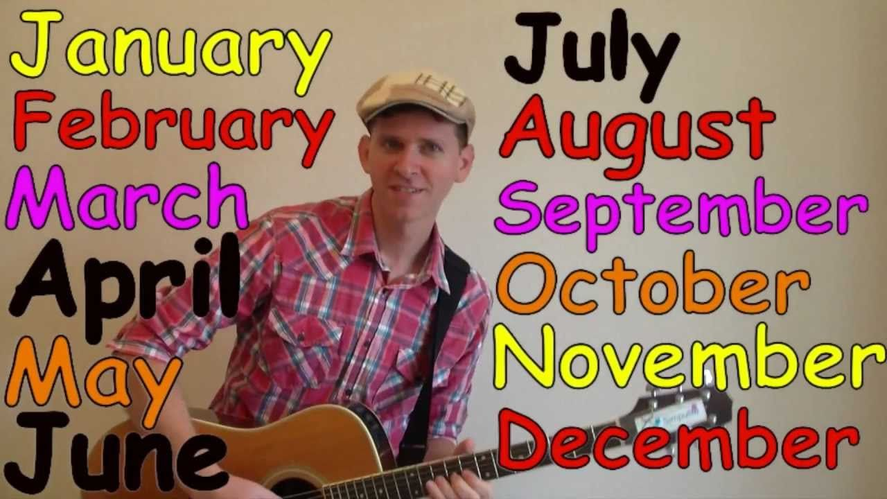Months Of The Year Song Months In A Year Kindergarten
