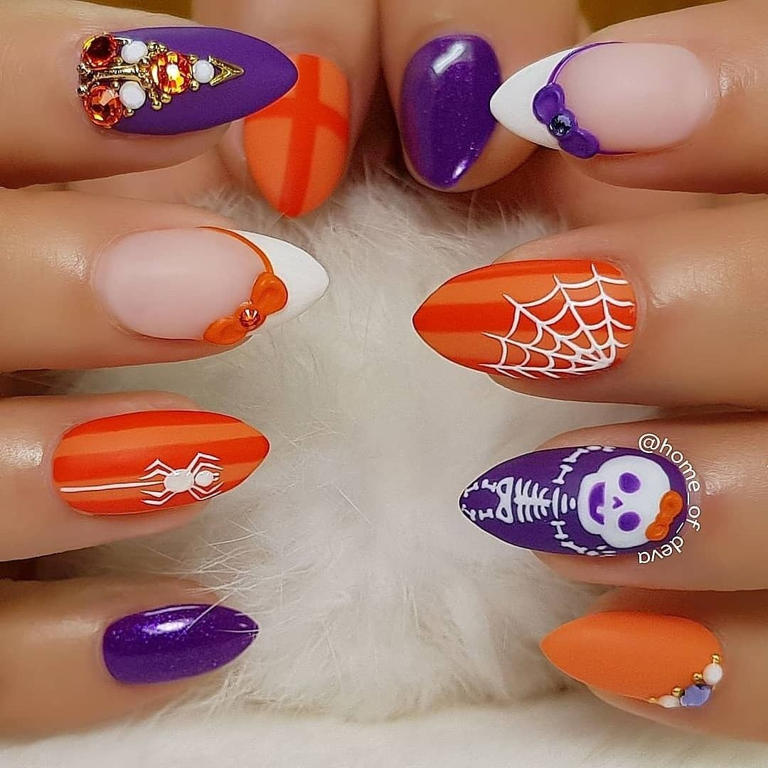 By #HomeOfDeva Instagram | Rainbow nails, Nail art hacks ...