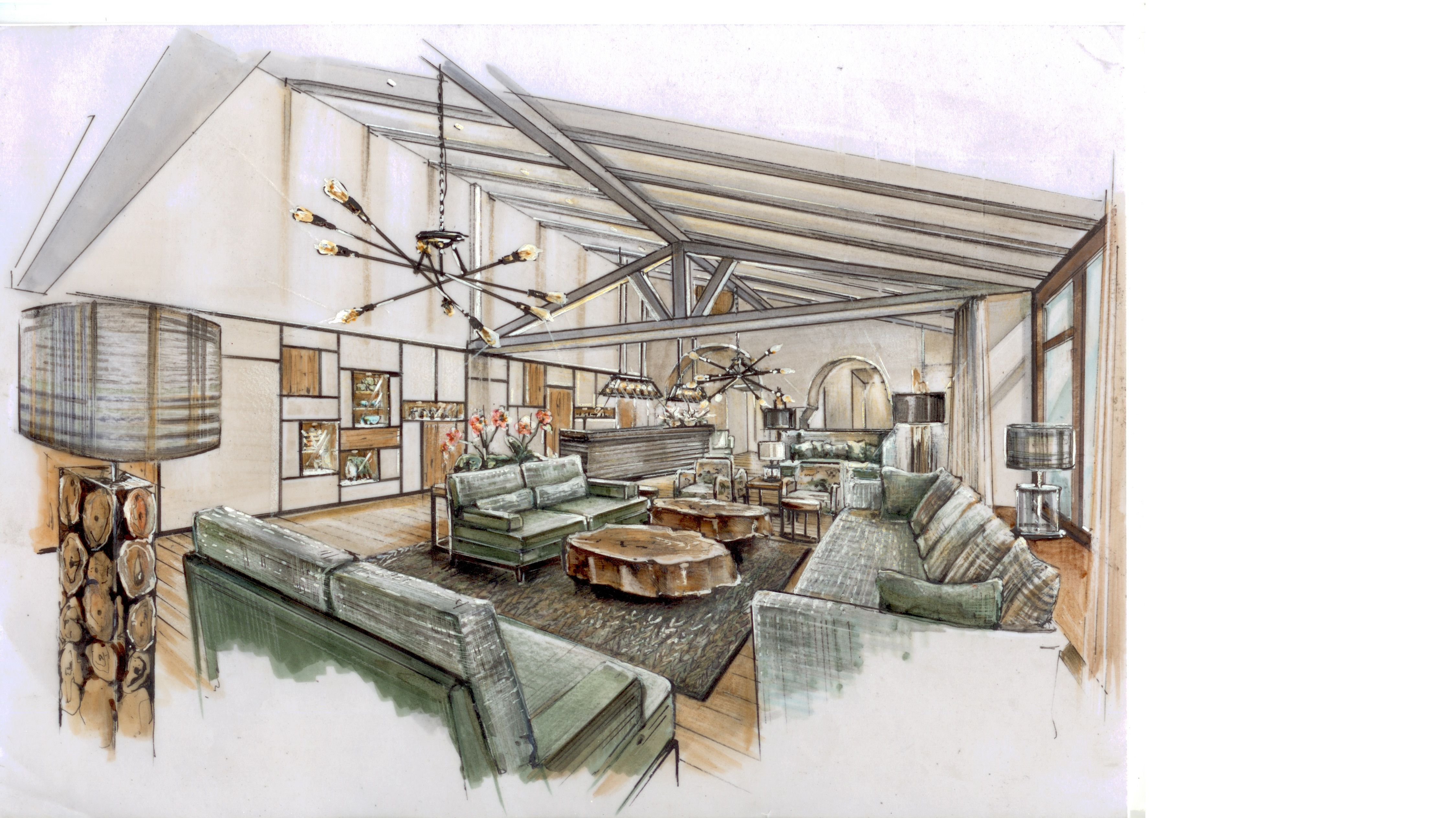 new rendering for Hotel Lobby
