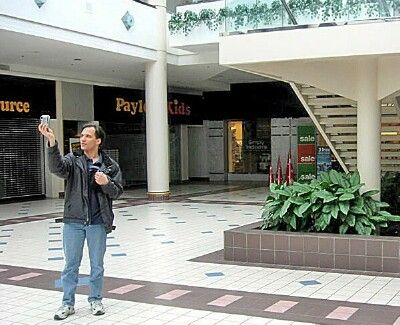 Brian Photographing The Interior Of Former Irondequoit Mall In