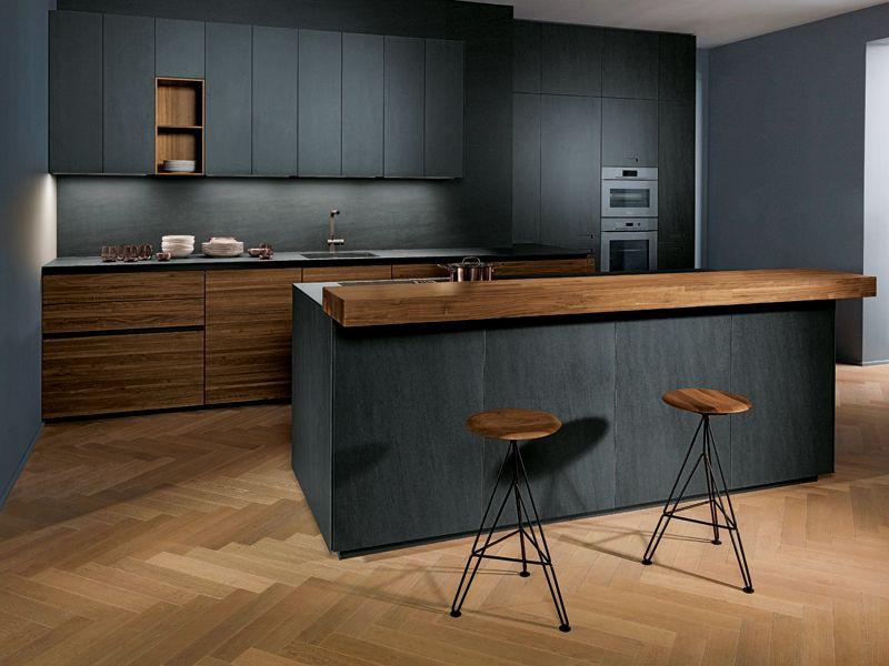 Modern Kitchen Design Sand Grey Matt Velvet
