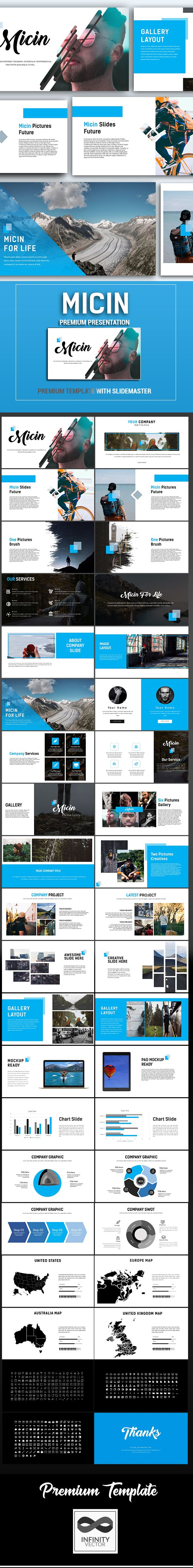 Micin Google Slide Template  Google Slides Presentation Templates