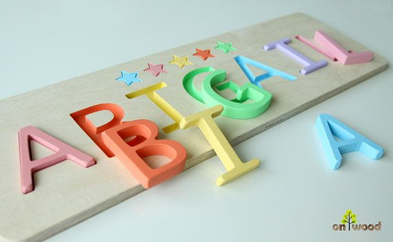 e3193254af29e Personalized Wooden Name Puzzle. Easter Gift for Kids. Perfect gift ...