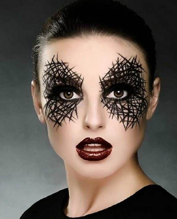 Halloween-Makeup-For-Women-60-Creepy-12 All Hallows Pinterest - easy makeup halloween ideas