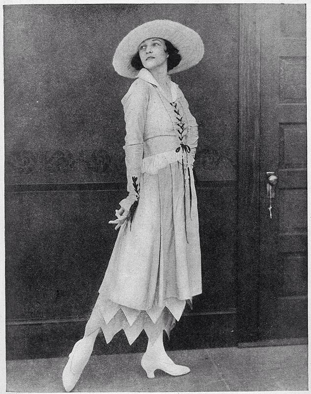 1917   Day Dress designed and modelled by renowned ballroom dancer Irene Castle