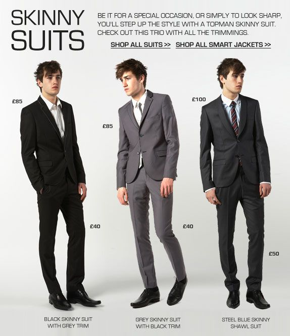 Men's Fashion and Style Aficionado: Skinny Suits [Just in @ Topman ...