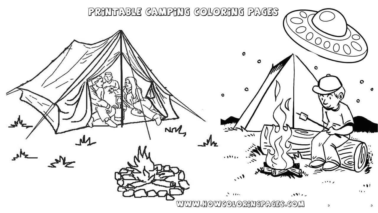 Printable Camping Coloring Pages For Kids Camping Coloring Pages Coloring Pages Free Coloring Pages