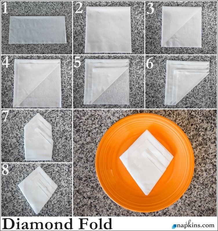 French Napkin Fold How to Fold a Napkin Pinterest Napkins