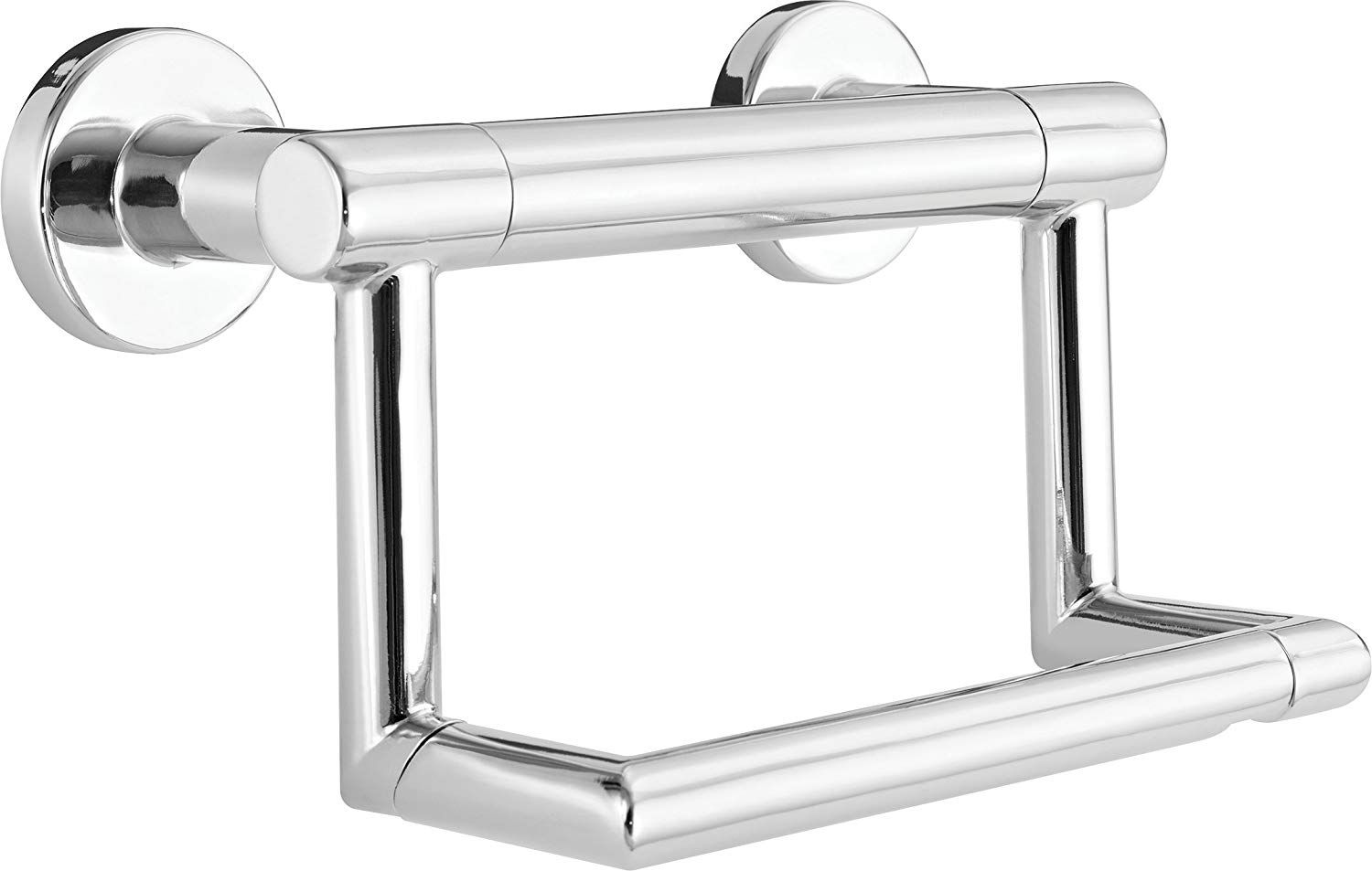 Delta Faucet 41550 Contemporary Pivoting Tissue Holder Assist Bar Polished Chrome Be Sure To Check Ou Toilet Paper Holder Wall Mounted Toilet Paper Holder