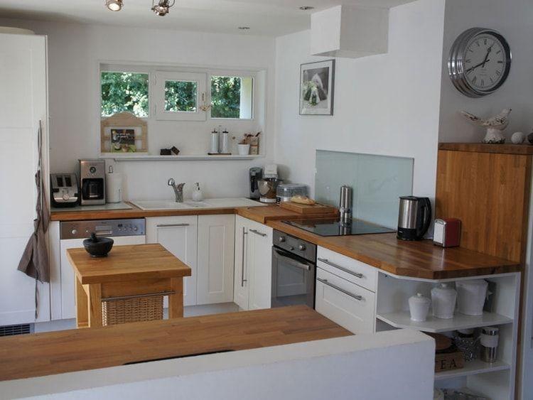 Cuisine IKEA en angle | Renovation meuble cuisine, Cuisine ...
