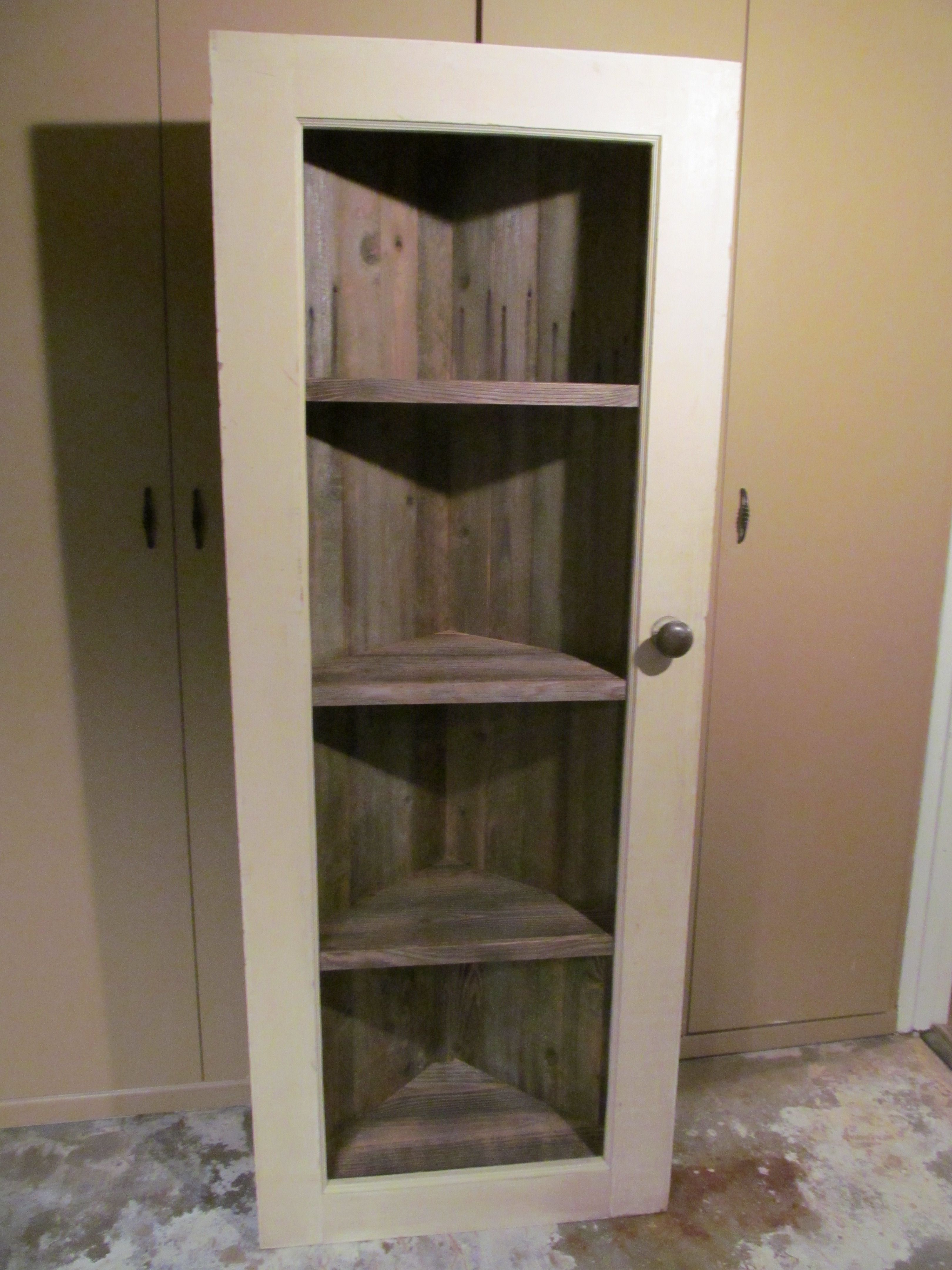 Long Crate Shelves made from reclaimed barnwood drawers from a