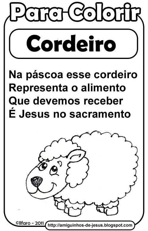 Simbolos Da Pascoa Cordeiro Amiguinhos De Deus Com Imagens