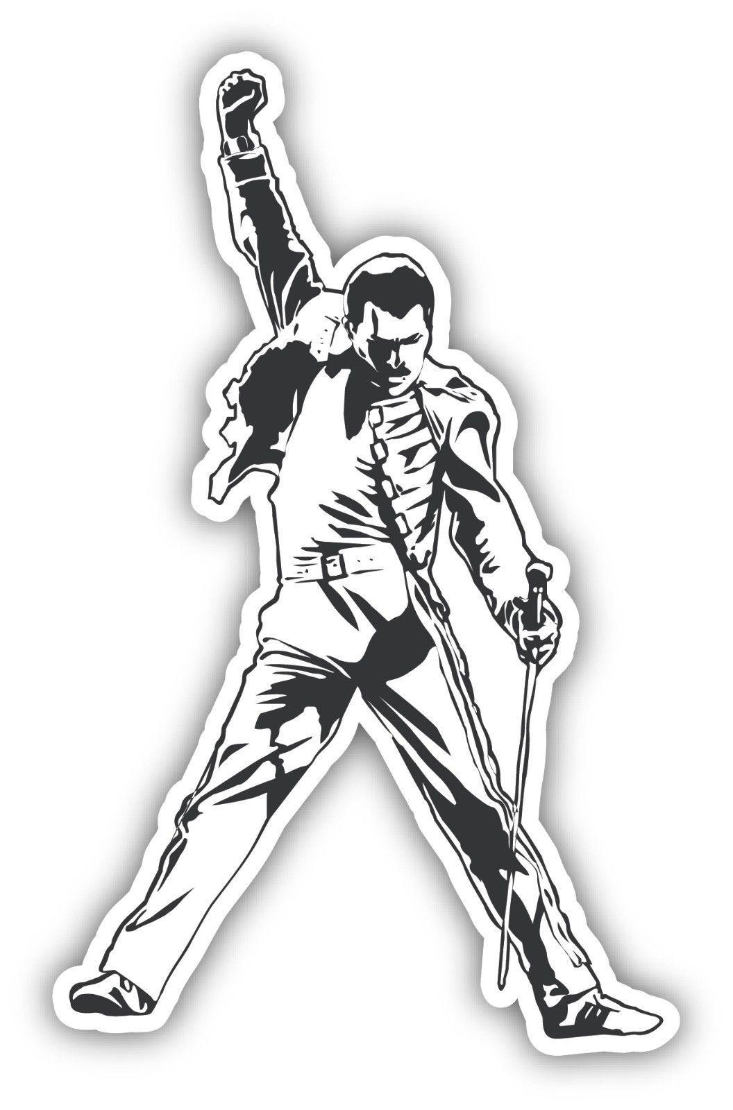 3 8 Freddie Mercury Queen Sticker Decal 3 Sizes Legend Vinyl