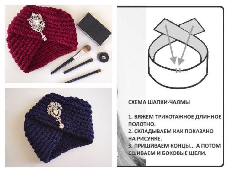Шапка - чалма (Diy) / Головные уборы / ВТОРАЯ УЛИЦА | crochet ...