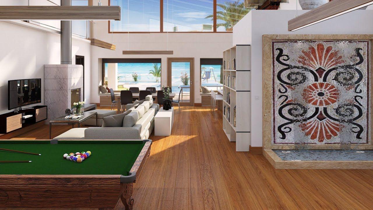 Os Presentamos Una Perspectiva 3d En 360º Del Salón Abierto Del Diseño De Una Vivienda Unifamilia Proyectos Arquitectura Vivienda Unifamiliar Entradas De Casas