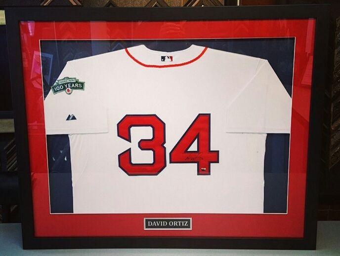 Custom framed David Ortiz Boston Red Sox jersey! Come frame your ...
