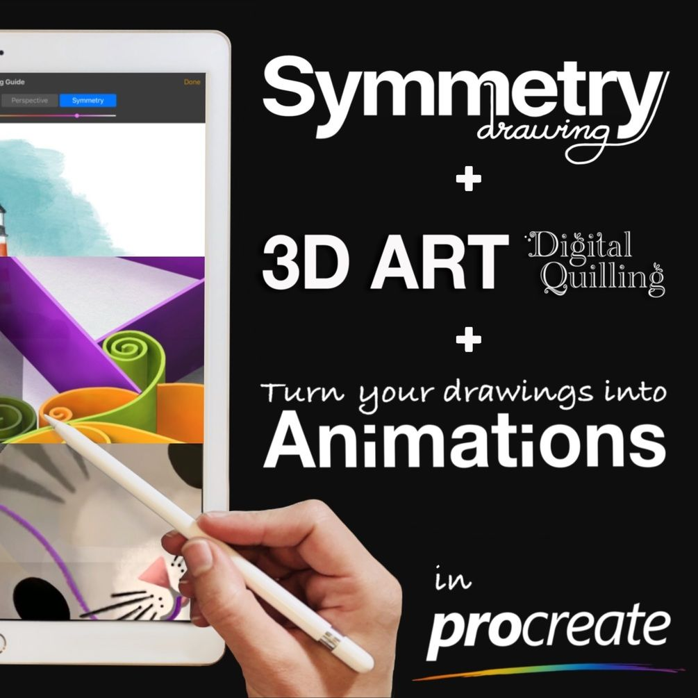 Symmetry + 3D + Animation in Procreate Bundle in 2020