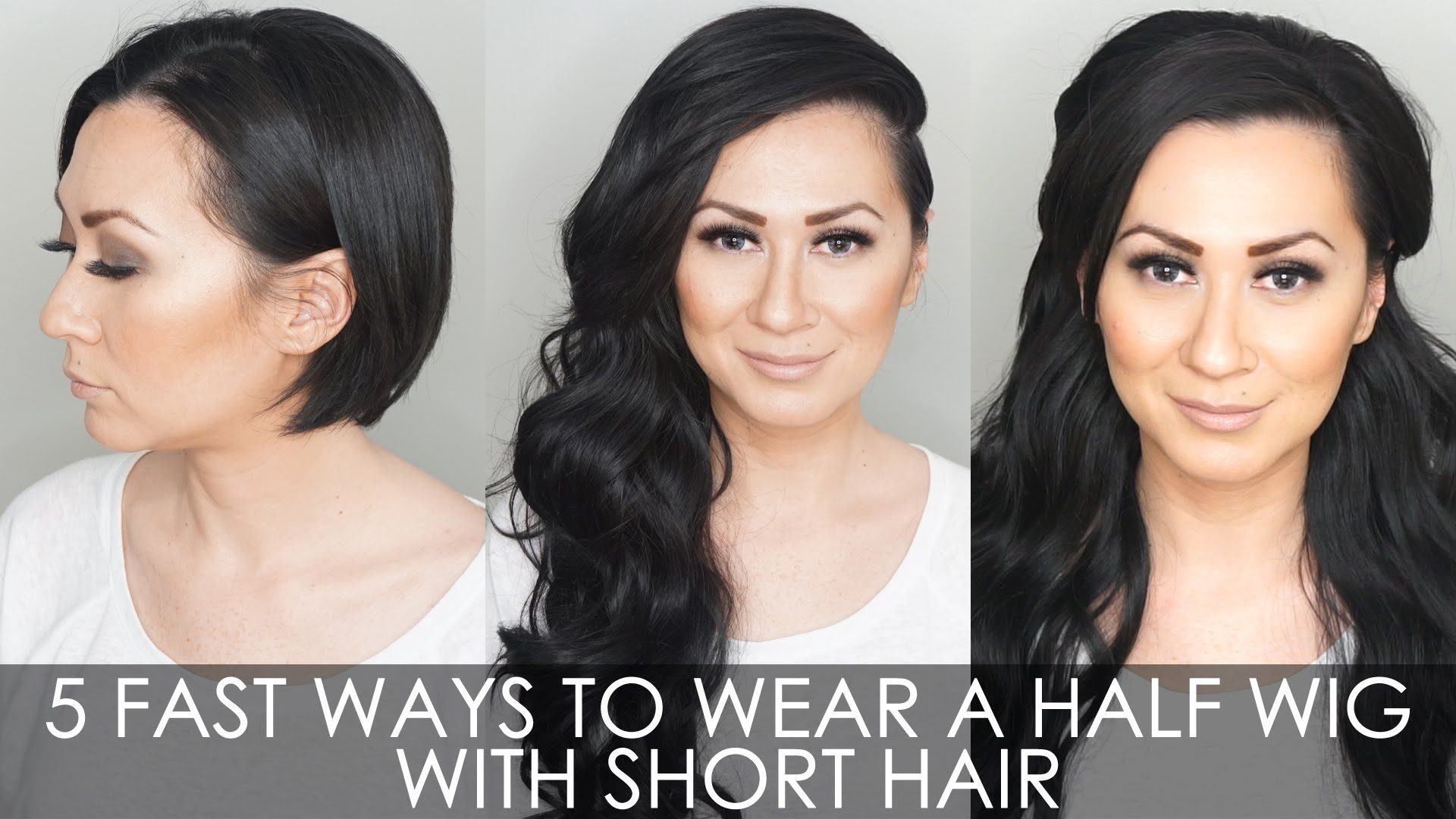 How To Wear A Half Wig With Short Hair Verona Half Wig By
