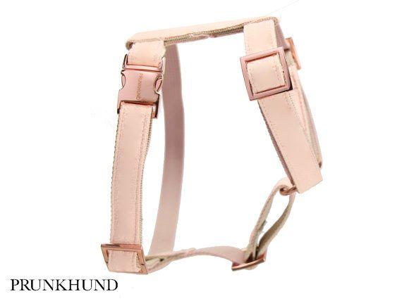 Designer Dog Harness Blush Designer Harness With Rose Gold