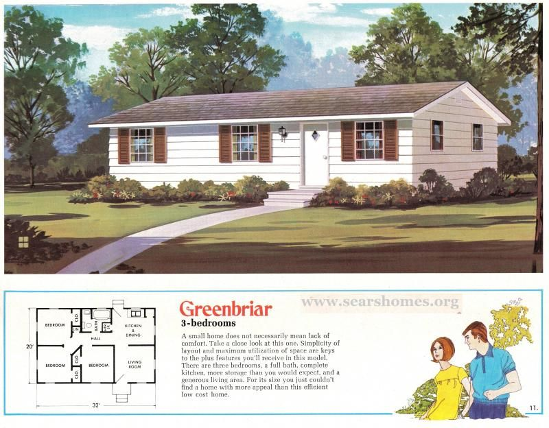 Jim Walter Sears Modern Homes House Floor Plans Vintage House Plans Floor Plans Ranch