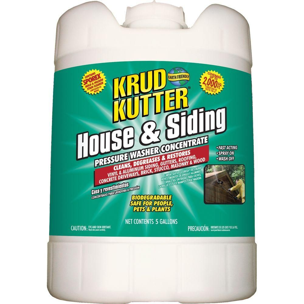 Krud Kutter 5 Gal House And Siding Pressure Washer Concentrate Krud Kutter Cleaning Aluminum Siding Pressure Washer