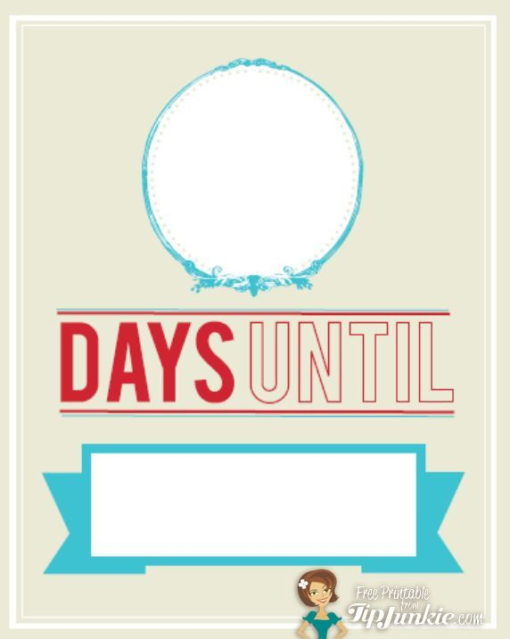 Trendy Count Down Template Free Printable Templates Printable